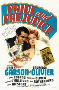 1940's Pride and Prejudice, starring Greer Garson and Laurence Olivier