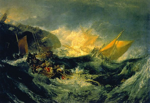 Shipwreck of the Minotaur by JMW Turner (1810)