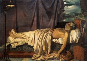 Lord Byron on his Deathbed
