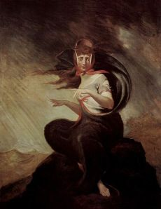 "Crazy Kate from Cowper's ""The Task"" by Fussli - the depths of despair"