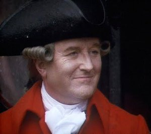 Robert Hardy as General Tilney--this actor was a marvelous Leicester in Elizabeth R--image from Jane Austen Today