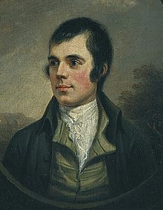 Nasmyth's flattering portrait of Burns
