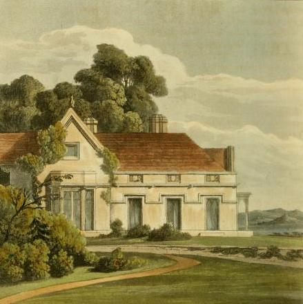 "A vicarage-house: ""..purposed to be erected in a situation where the scenery is both rural and romantic.."""