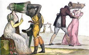 """Chit-chat made difficile -- Les Invisibles Tete a Tete (a la le """"coal scuttle bonnet"""")"""