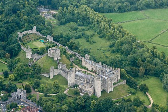 "Arundel Castle, home of ""the chief actors in some of the most gloriously memorable scenes of British history."""