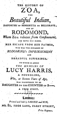 This popular tragedy was published in 1800.