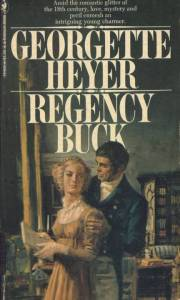 Cover from an older edition of Heyer's Regency Buck